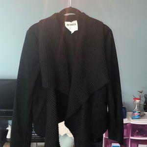 BB Dakota suede and knit jacket